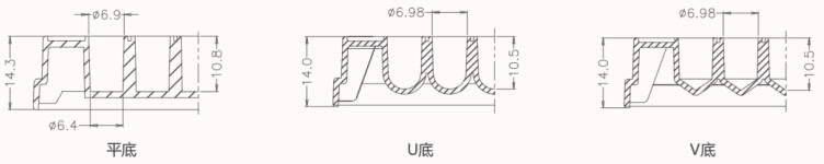 96孔板孔型尺寸示意图